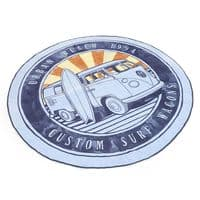 VW Campervan Round Beach Towel - Wagon